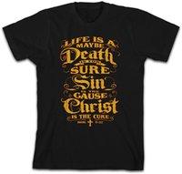 christian t shirts xl achat en gros de-Loose Cotton T-shirts Pour Hommes Cool Tops T Shirts The Cure Christian T-shirt