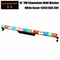 Wholesale used beams - Freeshipping 14x3W White Beam Wash 2IN1 Pixel Led Wall Washer Light Stage Truss Background Decoration Using Daisy Chain RGB 5050