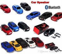 Wholesale card shaped speaker - Super Cool Bluetooth speaker LED Light Car Shape Wireless bluetooth Speaker Portable Outdoor Loudspeakers Sound Box for Samsung iPhone IPAD