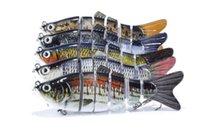 señuelos de pesca de mar al por mayor-Señuelos de pesca en el mar 6 secciones de acero de alto carbono Señuelos de gancho agudos 10cm / 17g señuelos multicolores de simulación de aguas poco profundas