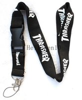 Wholesale Keychain Id Holder - NEW Clothing brand Logo Lanyard Detachable Keychain ID straps