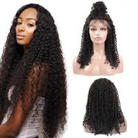 черные женские парики оптовых-Ishow бразильские вьющиеся парики полный шнурок человеческих волос парики для чернокожих женщин 180% плотность с детские волосы кружева перед парики