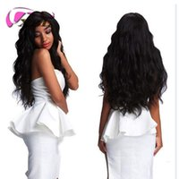 Wholesale best wavy human hair extensions resale online - Best A Brazilian Hair Human Hair Bundles With Closure Water Wave Bundles With Closure Wet And Wavy Human Hair Extensions