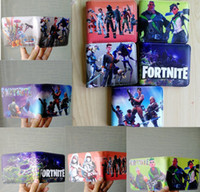 Wholesale cosplay toys - Hot Game FORTNITE Cosplay Wallet With Card Holder Coin Pocket Men's Short Purse Cartoon Figure Toys Action Toys for Kids Gift Cartoon