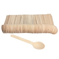 Wholesale bbq disposable - Eco -Friendly 100pcs Disposable Wooden Spoon Tableware Bamboo Scoop Coffee Honey Tea Spoon Bbq Tableware Tools