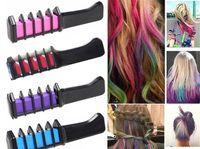 Wholesale Hair Chalk Wholesaler - Hair Chalk Salon the mini hair Chalk Dye Powder With Comb Salon Mascara Crayons Home DIY toys