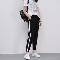 Hot selling Spring and summer thin section sports pants female large size loose students trousers casual feet harem pants nine points Korean version