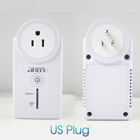 Wholesale Wireless Outlet Plug - Original EDUP EP-3703 WiFi Remote Power Socket Plug Outlet Smart Home 16A EU US Smart Phone Wireless Controls for ios pad Android
