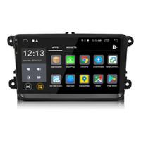 vw jetta için gps oynatıcı toptan satış-2 Din 9 inç Android 8.0 Araba DVD Oynatıcı GPS Navigasyon Stereo Radyo Için VW / Volkswagen / Passat / Jetta / Tiguan / Touran / POLO / Golf / Skoda / Octavia / deniz