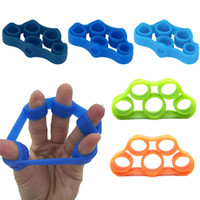 Wholesale silicone resistance bands resale online - Silicone Finger Gripper Strength Trainer Resistance Band Hand Grip Wrist Yoga Stretcher Wrist Rock Climbing Exercise LF062