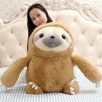 Wholesale Children S Birthday - Cute Sloth Plush Toys Dolls Lovely Cartoon Pillow Children 'S Day Gifts Birthday Animation Toys 40cm 50cm