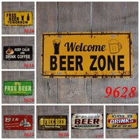 Wholesale bronze souvenirs - Vintage English Love Tin Sign Keep Calm And Drink Coffee 30*15cm Iron Paintings Free Beer Tomorrow Faith Hope 3 99lr BW