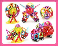 Wholesale plastic magnetic blocks for kids for sale - Group buy 95 pieces set pieces set of magnetic blocks micro magnetic designer building D model magnet block educational toy for kids