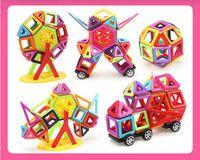 conjunto de bloques de imán al por mayor-Juego de 95 piezas, juego de 113 piezas de bloques magnéticos micro diseñador magnético de construcción modelo 3D bloque educativo de juguetes para niños