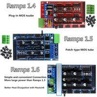 принтер arduino оптовых-Рампы 1,6 Расширительный Панель управления с Охладитель Модернизированный Рампы 1,4 / 1,5 для Arduino 3D совета принтера