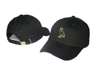 Wholesale Army Dad - Drake Octobers woes Snapback Cap dad Hat adjustable I think about you sometimes Baseball Cap Golf strapback Gold best quality 6 panel hat