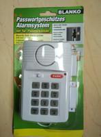 sistema de alarma de seguridad teclado al por mayor-Sistema de alarma de la puerta del teclado de seguridad con el botón de pánico para la caravana casera del garaje de la vertiente 110dB para el cobertizo de la puerta Garaje de retraso inmediato del garaje