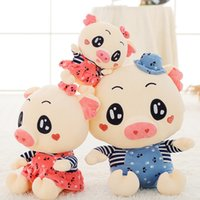 Wholesale Cute Couple Toys - Stuffed Plush Doll Toys Pigs 20cm Sow Boar Toy Couples Valentine Gift Super Soft Plush And Cute Appearance Pig