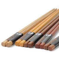Wholesale handmade chopsticks for sale - Group buy New Manual kinds of Natural Wood Chopsticks Spoon Set Handmade Japanese Gift Packing