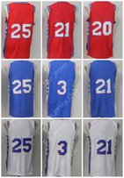 Wholesale Mf Black - 2018 New PHI City Basketball PHILA Jersey Men Women Youth,Signature Retro Children ,3 AI 25 BS 21 JE 20 MF Blue USA