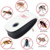 ratón de insectos al por mayor-Eu Us Plug Electronic Cat Ultrasonido Anti Mosquito Insecto Controlador de plagas Ratón Cucaracha Repelente de plagas Versión mejorada Inicio