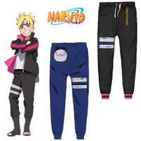 trajes originais do carnaval venda por atacado-Tamanho asiático Japão Anime Naruto Uzumaki Boruto Halloween Casual 3D Traje Cosplay Unisex Calças Esportivas Calças Soltas