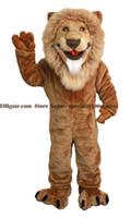 ingrosso costumi di peluche-trasporto libero del vestito adulto del costume della mascotte del leone, le vendite della fabbrica della mascotte di camminata del leone della peluche di alta qualità si vestono in su