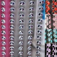 cadeia de cristal prism bead venda por atacado-Alta Qualidade Cadeia De Cristal Claro Decoração de Casamento Prisma de Cristal Bead Cadeia de Festa de Baile À Noite Partido Peça Central Decoração Pendurar Strandes