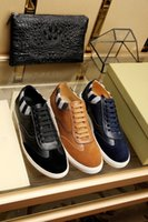 Wholesale business casual sneakers men - 2018 New Low Real Leather men's Sneaker Wholesale Luxury Brand Men with business casual shoes High quality and free shipping Size:38-44