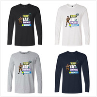 9067f221dc Men s FORTNITE Designer brand T-shirts 3D game SLEEP EAT REPEAT Print Men  Women Fashion Casual Long Sleeve luxury T shirts Tops Tees tshirts
