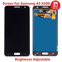 ingrosso toccare lcd samsung-Schermo per Samsung Galaxy A5 2015 A500 A500F A500M Display LCD Touch Screen Digitizer TFT Assembly Luminosità di ricambio regolabile