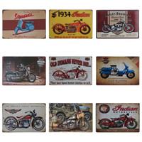 vente de peinture moto achat en gros de-Vintage Moto Design Fer Peinture Locomotive Style De Mode Tôle Signe Pour KTV Et Boîte De Nuit Décoration Tins Affiche Vente Chaude 20 * 30 cm Z