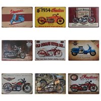 Wholesale paintings for sale - Vintage Motorcycle Design Iron Painting Locomotive Style Fashion Tin Sign For KTV And Night Club Decoration Tins Poster Hot Sale cm Z