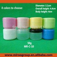 maske jar kosmetik großhandel-Farbige 60 teile / los 50 ML 50G PP Leere Kunststoff Kosmetikdose Mit Schraubverschluss Innendeckel, probe Make-Up Jar Sub-Flaschenabfüllung, Maske Container