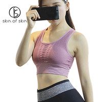 ingrosso reggiseni per le donne-2018 New Nylon Women's Hollow Sport Reggiseno antiurto Running Female Yoga Underwear Gather Stereotype Indietro Vest Type Bra Fitness