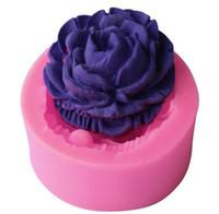 ingrosso muffa di rosa del cioccolato 3d-Muffa del cioccolato della Rosa 3D, attrezzi di decorazione della torta del fondente, muffa del sapone del silicone, muffa della torta del silicone