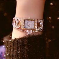 montres haut de gamme en platine achat en gros de-Montres pour femme BS Original Watches nouvelle chaîne haut de gamme Montre pleine de montres pour femmes Montre à la mode FA0969 avec boîte-cadeau