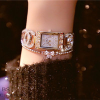 Wholesale platinum high end watches for sale - Group buy Women s Watches BS Original Watches new high end chain Watch full of women s Watch fashion Watch FA0969 with Gift Box