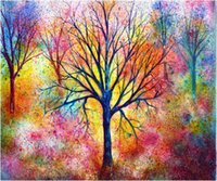 Wholesale impressionist tree paintings resale online - Full Square Round Drill D DIY Diamond Painting quot tree quot Embroidery Cross Stitch Mosaic Home Decor Art Experience toys Gift A0232