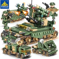 Wholesale bricks toys army for sale - KAZI Military Field Army Building Blocks Toy Bricks Heads missile Educational Toys for Children Birthday Gift