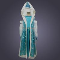 vestido de princesa gratis al por mayor-Disfraces de las niñas bebé vestido de nieve niños faldas de los niños cosplay vestido de fiesta princesa vestidos de trajes 20 unids / lote DHL envío gratis