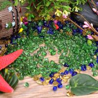 glas garten ornamente großhandel-Kunststoff Künstliche Blaulicht Stein Aquarium Aquarium Hintergrund Dekoration Acrylglas Kiesel Ornament Gehweg Garten Hause Versorgt