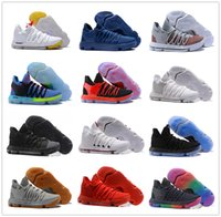 Wholesale Kds Shoes - New 2017 KD 10 Basketball Shoes Men White Red Tennis BHM Kevin Durant 10 X 9 Kds Elite Floral Aunt Pearls Easter Sneakers kd10 Sport Shoes
