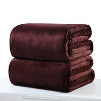 Wholesale flannel blanket queen for sale - Group buy Solid Coral Fleece Blanket On The Bed Camouflage Flannel Blanket Sofa Throw Queen King Full New Arrivals