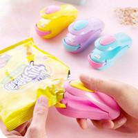 Wholesale plastic shipping packing bags for sale - Magic cute mini heat sealing mashine impluse sealer seal packing plastic bag kit tools