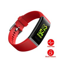 Wholesale apple beat for sale - Group buy Color Screen Fitness Tracker Sport Bracelet Heart Beat Blood Presure Monitor Female Physiologicial Reminder Sleep Monitor IPX7 Smart Band