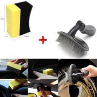 Wholesale tire cleaning resale online - 2018 Car Motorcycle Wheel Tire Rim Scrub Brush U Shape Sponge Rub Wash Cleaner Tool