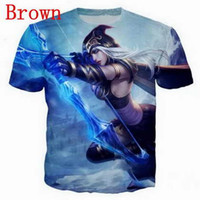 Wholesale sexy games funny resale online - Game hero league D Funny Tshirts New Fashion Men Women D Print Character T shirts T shirt Feminine Sexy Tshirt Tee Tops Clothes ya128