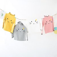 Wholesale new fashion t shirt korean for sale - Group buy Factory direct sale autumn new children s wear T shirt girl s Korean embroidered cotton long sleeved primer coat