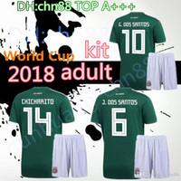 2974ee6870a 2018 World Cup Mexico man Soccer Jersey National Team CHICHARITO GUARDADO  HERRERA 18 19 World Cup G . DOS SANTOS J . DOS SANTOS Football kit